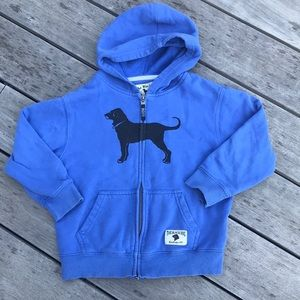 The Black Dog zippered hoodie